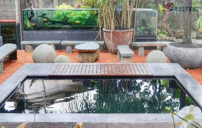 Desain Kolam Minimalis Luar Ruangan