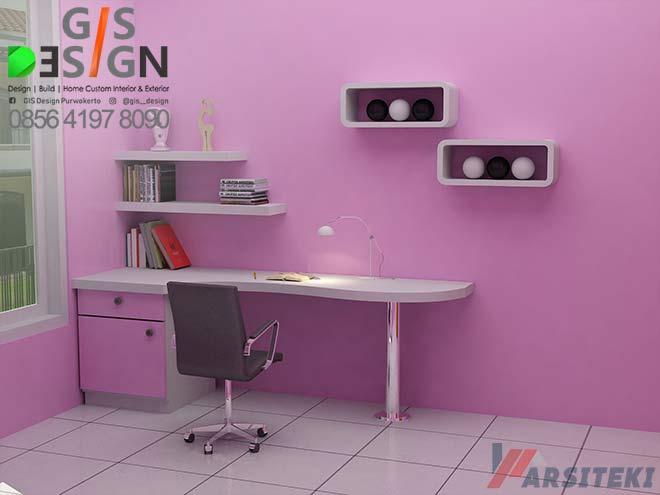 Desain Meja Belakar Anak Perempuan