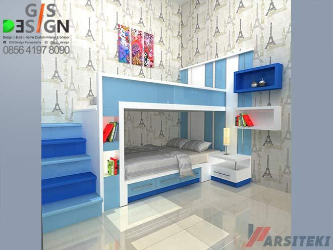 Desain Tempat Tidur Anak Tingkat