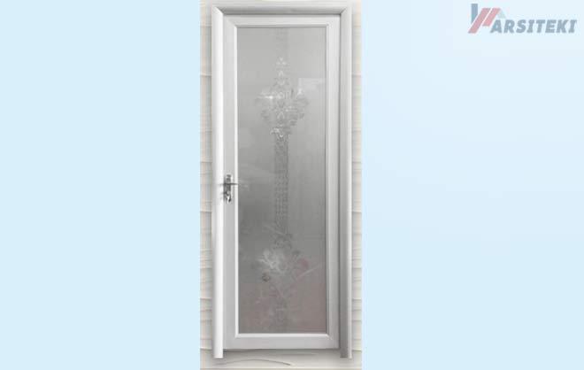 Pintu Kamar Mandi Aluminium Full Kaca Titan