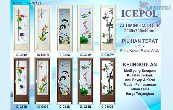 Pintu Kamar Mandi Aluminium Icepol