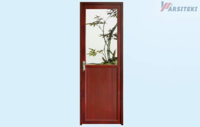 Pintu Kamar Mandi Aluminium Titan Setengah Kaca