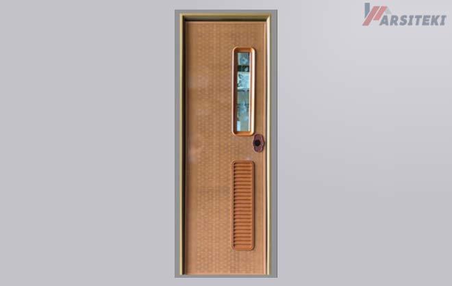 Pintu Kamar Mandi PVC Heavy Duty Dark Brown
