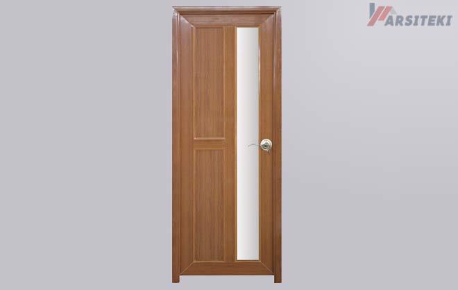 Pintu PVC Redwood Kaca Frosted